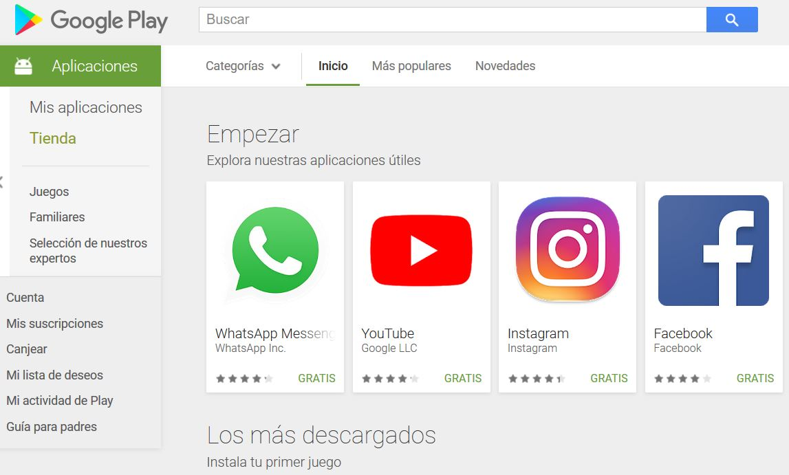Descargar GOOGLE PLAY STORE para Pc